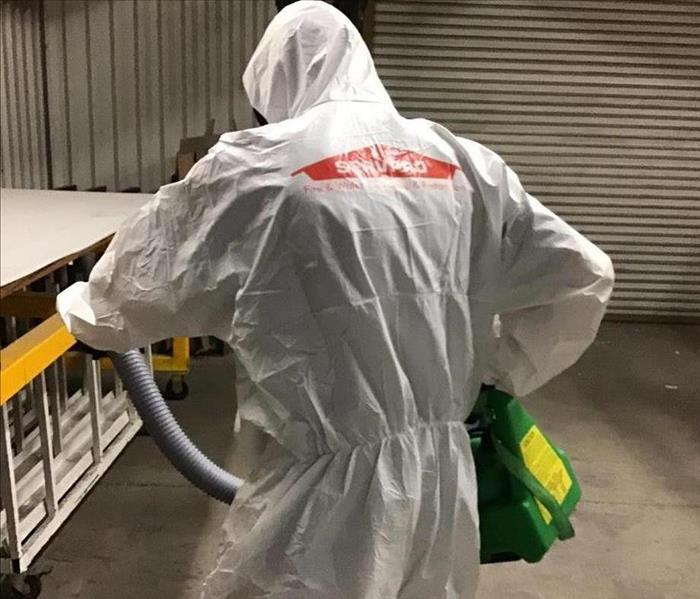 SERVPRO using a Fogging machine to disinfect